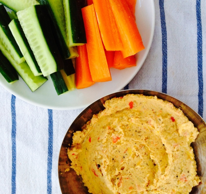Roasted red pepper and smoked paprika hummus