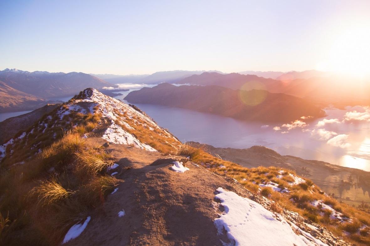 New Zealand landscape view