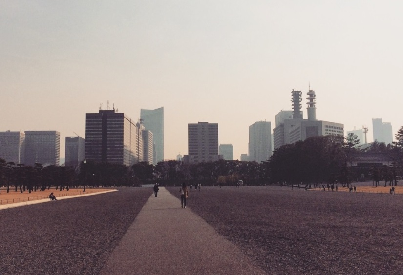 Skyline of Tokyo from Imperial Palace